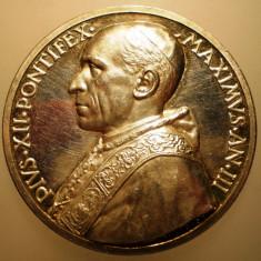 5.611 ITALIA VATICAN MEDALIE PAPA PIUS XII 1941 AN III ARGINT 37, 3g MISTRUZZI, Europa