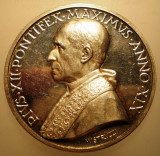 5.633 ITALIA VATICAN MEDALIE PAPA PIUS XII 1957 AN XIX ARGINT 35,2g MISTRUZZI