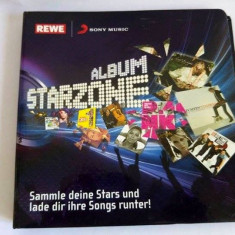 Album Starzone, cartonase cu artisti, staruri, in germana, Sony Music, REWE