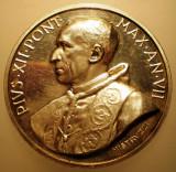 5.630 ITALIA VATICAN MEDALIE PAPA PIUS XII 1945 AN VII ARGINT 39,1g MISTRUZZI