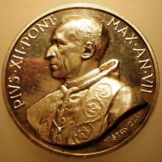 5.630 ITALIA VATICAN MEDALIE PAPA PIUS XII 1945 AN VII ARGINT 39, 1g MISTRUZZI, Europa