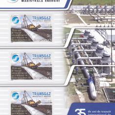 TRANSGAZ - MAGISTRALA ENERGIEI BLOC, 2009, MNH, ROMANIA. - Timbre Romania, Nestampilat
