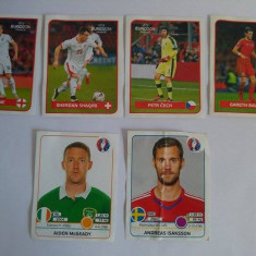 Lot 6 stickere Panini forbalisti Euro 2016 UEFA France (abtibild, autocolant)