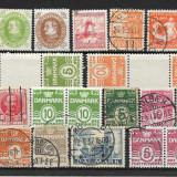 Lot timbre Danemarca, Stampilat