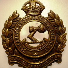 I.706 NEW ZEALAND NOUA ZEELANDA INSIGNA MILITARA 3 REGIMENT INFANTRY h44mm
