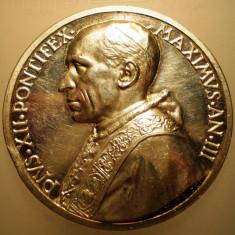 5.616 ITALIA VATICAN MEDALIE PAPA PIUS XII 1941 AN III ARGINT 38, 5g MISTRUZZI, Europa