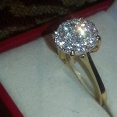 Vand inel din aur cu diamante - Inel diamant, Carataj aur: 18k, Culoare: Galben