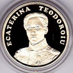 50 bani 2017 exec PROOF Ecaterina Teodoroiu prima femeie ofiter in Armata Romana - Moneda Romania
