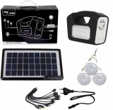 Panou solar fotovoltaic 3 becuri LED lampa USB incarcare telefon GERMAN DESIGN