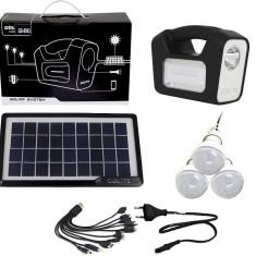Cumpara ieftin Panou solar fotovoltaic 3 becuri LED lampa USB incarcare telefon GERMAN DESIGN