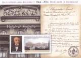 UNIVERSITATEA BUCURESTI - PRIMUL RECTOR  BLOC,2014, MNH,ROMANIA., Istorie, Nestampilat