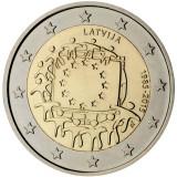REDUCERE - Drapelul UE - Letonia moneda comemorativa 2 euro 2015 - UNC, Europa