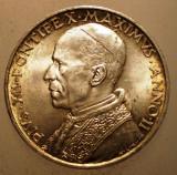 A.196 VATICAN PAPA PIUS XII 5 LIRE 1940 AUNC ARGINT 5g, Europa
