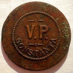R.127 ROMANIA JETON V.P. CONSTANTA 10 LEI 28mm - Jetoane numismatica