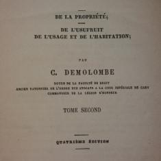 C. DEMOLOMBE - COURS DE CODE NAPOLEON - TRAITE DE LA DISTINCTION DES BIENS II