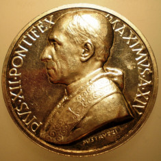 5.634 ITALIA VATICAN MEDALIE PAPA PIUS XII 1952 AN XIV ARGINT 37, 7g MISTRUZZI, Europa