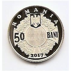 Romania 50 bani 2017 - Ecaterina Teodoroiu, Proof, UNC !!! - Moneda Romania
