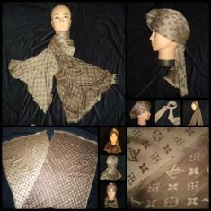 Fular Dama Louis Vuitton made in ITALY 2 FETE BEJ NUDE MARO SAL LANA, Culoare: Din imagine
