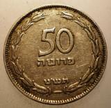 2.769 ISRAEL 50 PRUTA PRUTAH 1949, Asia, Cupru-Nichel