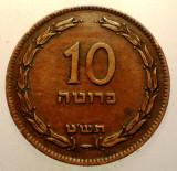 2.760 ISRAEL 10 PRUTA PRUTAH 1949, Asia, Bronz