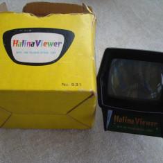 Aparat vizualizat Diapozitive HALINA IIEWER + 20 diapozitive noi - Accesoriu Proiectie Aparate Foto