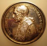 5.638 ITALIA VATICAN MEDALIE PAPA BENEDICT XV 1920 AN VII ARGINT 35,8g MISTRUZZI, Europa