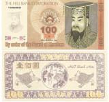 !!!  RARR :  HONG  KONG , HELLNOTE  -  100  DOLARI  1998  / CEA  DIN SCAN