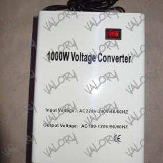 Convertor invertor transformator de tensiune 220V - 110V putere 1000W pt SUA NOU
