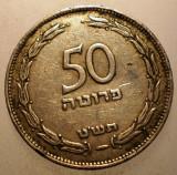 2.771 ISRAEL 50 PRUTA PRUTAH 1949, Asia, Cupru-Nichel