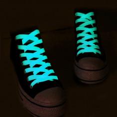 Sireturi fosforescente care lumineaza albastru, lungime 110 cm