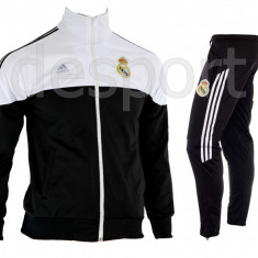 Trening REAL MADRID - Bluza si pantaloni conici - Modele noi - Pret Special 1205 - Trening barbati, Marime: S, M, L, XL, XXL, Culoare: Din imagine
