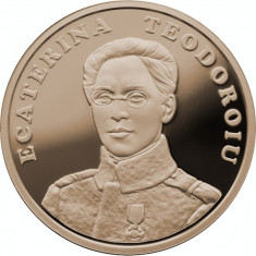 Romania 50 Bani 2017 Ecaterina Teodoroiu Virtute Militara in capsula transp - Moneda Romania, Alama
