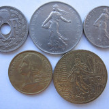 Franta (8)-10Centimes1931, 1968, 1 Franc 1960, 1/2 Franc 1965, 50 Euro Cents 2001, Europa