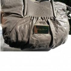 Geanta COCCINELE piele naturala stare de nou - Geanta Dama Chanel, Culoare: Gri, Marime: Mare, Geanta de umar