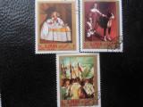 Serie timbre pictura VELASQUEZ stampilate Ajman timbre arta timbre picturi, Stampilat