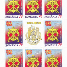 STATUL MAJOR GENERAL AL ARMATEI ROMANE, MINISHEET, 2009, MNH, ROMANIA. - Timbre Romania, Militar, Nestampilat