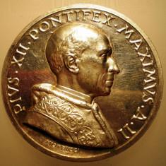 5.603 ITALIA VATICAN MEDALIE PAPA PIUS XII 1940 AN II ARGINT 37, 3g MISTRUZZI, Europa