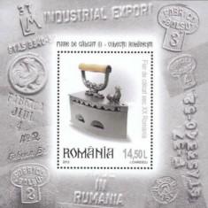 2012 - fiare de calcat, colita neuzata - Timbre Romania