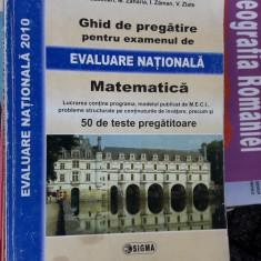 Ghid De Pregatie Pentru Examenul De Evaluare Nationala Matematica 50 TESTE - Carte Teste Nationale