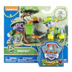 Jucarie figurina Paw Patrol, Jungle Rocky - Figurina Desene animate