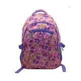 Ghiozdan Butterfly, gimnaziu, roz, Ecada
