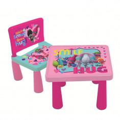 Set masa si scaun Trolls - Set mobila copii