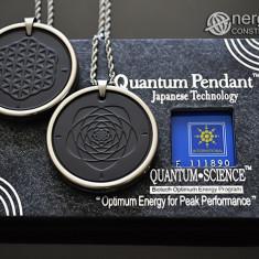 Pandantiv Scalar Cuantic din Turmalina si Cenusa Vulcanica Floarea Vietii ORG217