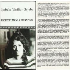 Isabela Vasiliu-Scraba, Propedeutica la eternitate