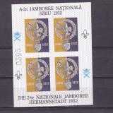 CERCETASII ROMANIEI ,JAMBOREEA   SIBIU 1932,CINDERELLA,VIGNETE, 1996,BLOC,MNH., Istorie, Nestampilat