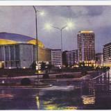 CARTE POSTALA, BUCURESTI, PIATA PALATULUI RPR, 1963 - Carte Postala Muntenia dupa 1918, Circulata, Fotografie