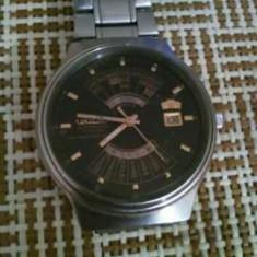 Ceas orient 21 rubine(orar, minutar, sec., sigla, data din aur) - Ceas barbatesc Orient, Mecanic-Automatic