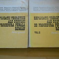V. DONGOROZ--EXPLICATII TEORETICE ALE CODULUI DE PROCEDURA PENALA ROMAN- 2 VOL. - Carte Drept penal