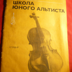Partituri vioara ,pian-M.Reytik -Scoala Tanarului Violonist 1987 ,lb.rusa ,48pag
