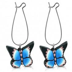 Cercei fluture B3341 - Cercei fimo